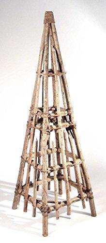Rank naturel pyramide hauteur : 125 cm-largeur x profondeur : 41 x 41 cm, matériau, 2 pièces