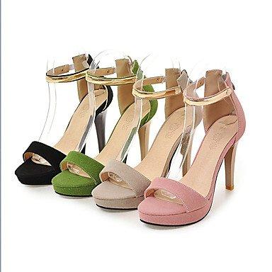 LvYuan Da donna Sandali Finta pelle Primavera Estate Autunno Cerniera A stiletto Nero Beige Verde Rosa 10 - 12 cm Black
