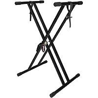 Tiger KYS16-BK Support pour Clavier avec Sangle de Retenue - Noir