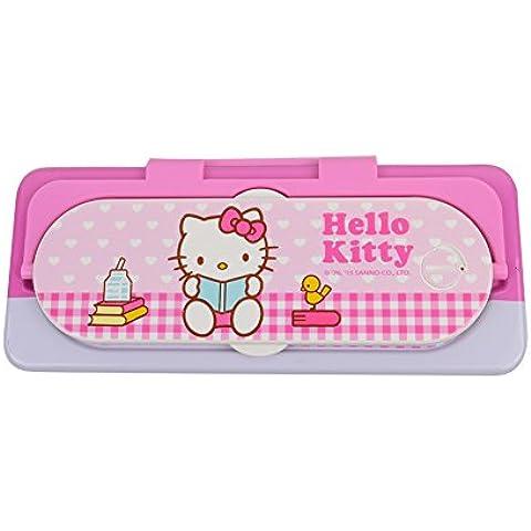 Hello Kitty Doble-capas Cajas lápiz Calculadora Pequeño KT9208 (Rosa)