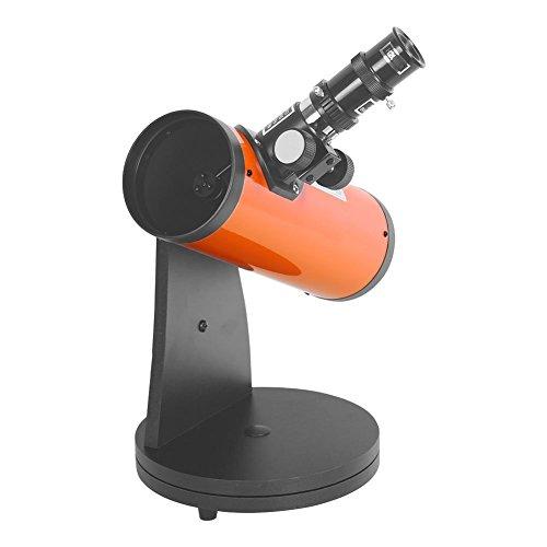 SHIJIAN Hochauflösendes Reflektor-Teleskop Portable Desktop 15-100X VERGRÖSSERUNG - mit 6-mm-Okular, 20-mm-Okular und 2X Barlow-Linse, 300 mm Brennweite, 76 mm Öffnung