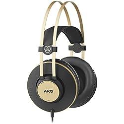 AKG K92 - Auriculares de diadema cerrados (200 mW, 32 Ohmios, 113 dB, 3 m), color negro