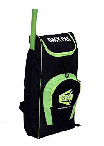 CW Synthetic Shoulder Duffel Cricket Kit/ Academy Kit Bag Black with Bat Pocket, Club Matches, 28x13x9inch (CW_BPSK_49, Floral Green)