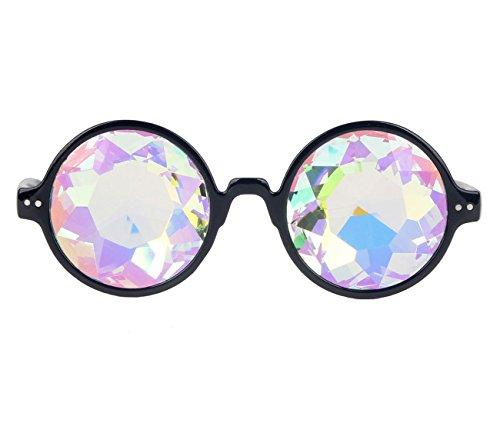 AFUT Geometrisch Prisma Regenbogen Kaleidoskop Glas Kristall Linse Schwarz