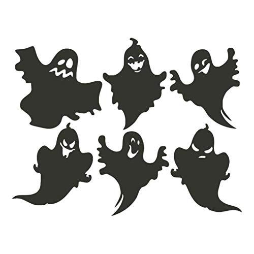 (Wandaufkleber Halloween,Transwen Happy Halloween Hintergrund Wandaufkleber Fenster Dekoration Abziehbild Dekor Dekoratives Klebeband Mauer (Schwarz))