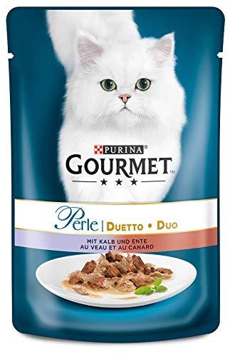 Purina GOURMET Perle: Katzennassfutter, hochwertiges Katzenfutter für ausgewachsene Katzen, 24er...