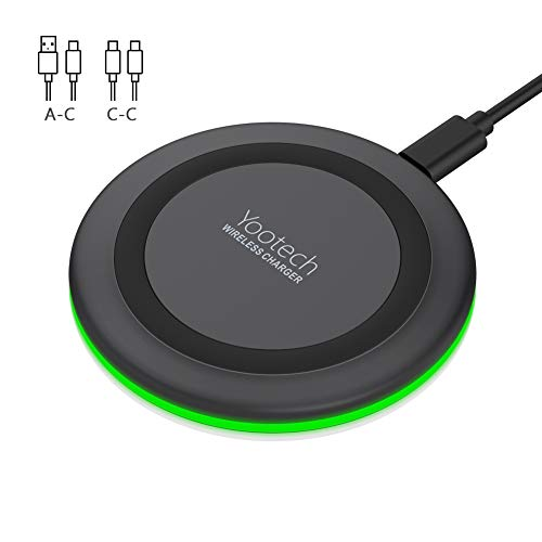 Wireless Charger, YOOTECH Wireless Ladestation maximal 10W Fast Wireless Ladegerät für iPhone 11/11 Pro/11 Pro Max/XS MAX/XR/XS/X/8/8 Plus, Galaxy Note 9/S9/S9 Plus/Note 8/S8, neue AirPods Pro usw