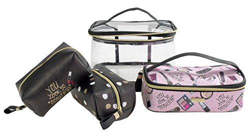 Camomille milano-set Beauty Case + 3 enveloppes Black Sweet Make Up