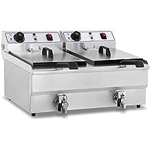Royal Catering - RCEF-10DH - Friggitrice elettrica doppia da 2x8 litri - 100 % acciaio inox - 2 x 3,2 kW - spedizione gratuita