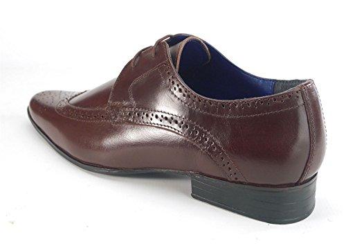 Frank James , Chaussures de ville à lacets pour homme Bordeaux