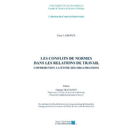 Les conflits de normes dans les relations de travail - Contribution à l'étude des organisations