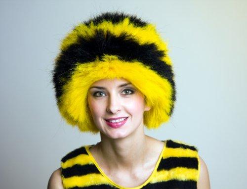 Festartikel Müller Karneval Damen Perücke Biene schwarz-gelb zum Bienenkostüm Fasching