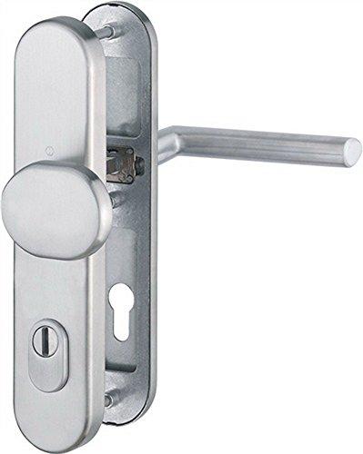 Preisvergleich Produktbild Hoppe Schutzbeschlag Stockholm ES1 E86G/3332ZA/3310/1140Z, edelstahl, Pz 92 mm, TS 67-72 mit Ziehschutz, Stift 10 mm, 3665041