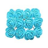 P Prettyia 144 STK. Schaum Rosen Künstliche Blumen Rosenköpfe Rosenblüten Blumen Kopf - Blauer See