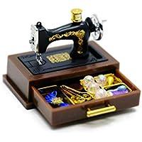 Vintage máquina de coser casa de muñecas en miniatura