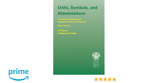 Units Symbols And Abbreviations A Guide For Authors And Editors