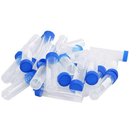 Andifany 30pzs 50ml Envase de Almacenamiento Vial Tubos de Prueba para Laboratorio