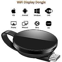 LONOSUN Dongle d'affichage WiFi, récepteur sans Fil WiFi Mini-écran 1080P HDMI TV Miracast DLNA Airplay pour iOS / Android / Mac