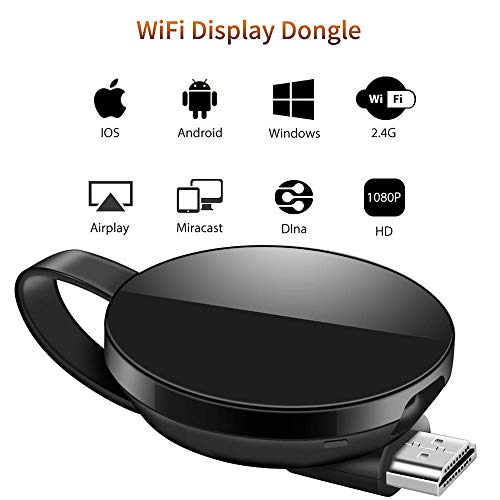 LONOSUN WiFi Dongle de Pantalla, Wi-Fi Receptor Mini Pantalla 1080P HDMI TV...