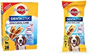 Pedigree Dentastix Medium Breed (10-25 kg) Oral Care Dog Treat (Chew Sticks) (28 Sticks) 720g Monthl & Den