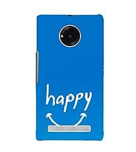 EPICCASE Happy case Mobile Back Case Cover For YU Yuphoria (Designer Case)