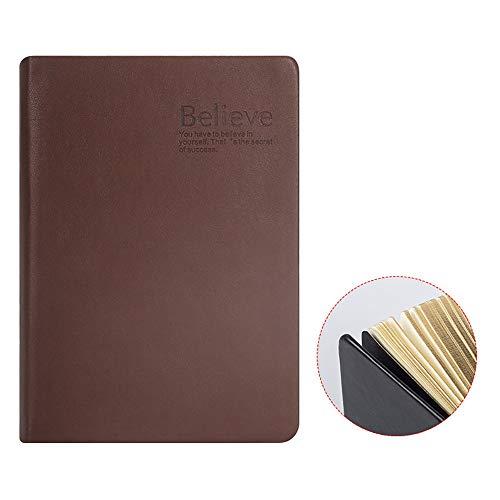 ZUEN Leder-Retro-Notizblock, A5 Classic Lined Journal 300Page Leerseite verdickt Tagebuch-Notizbücher und Tagebücher Aktionstag,Brown -