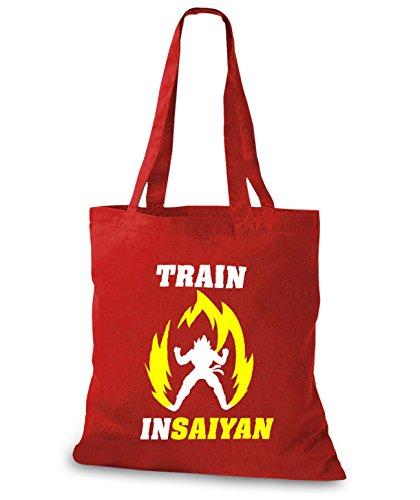 StyloBags Jutebeutel / Tasche Train Insaiyan Yellow Fire Rot
