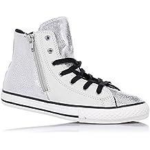 Converse CT OX 136823c white pelle Chuck Taylor All Star HI Scarpe Chucks