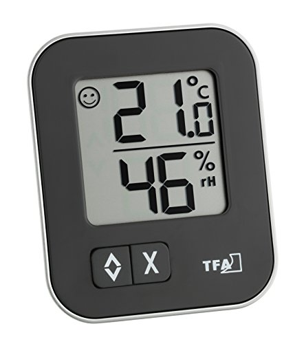 TFA 30.5026.01 Moxx Digital Thermo-Hygrometer - Black