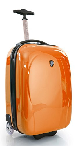 ... 50% SALE ... PREMIUM DESIGNER Hartschalen Koffer - Heys Core XCase Mini Silber - Handgepäck Orange