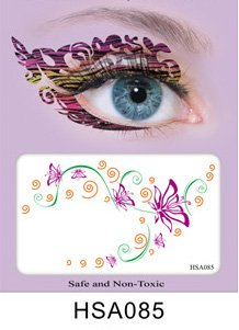 Party Augen Makeup Tattoo Spitze Aufkleber Halloween -HSA085 Sticker Tattoo - - Augen Ein Halloween Make-up