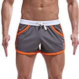 Costume da Bagno Sport Nuoto Traspirante Casual Shorts Pantaloncini Mutande Boxer Regolabile Elastico Estivo Uomini Estate Casa Tempo Libero Sezione Sottile Movimento Pantaloni