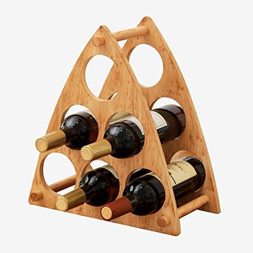 YL Home Weinregal Dreieck 6 Flaschen Weinregal Weinflaschenregal Lagerregal A++