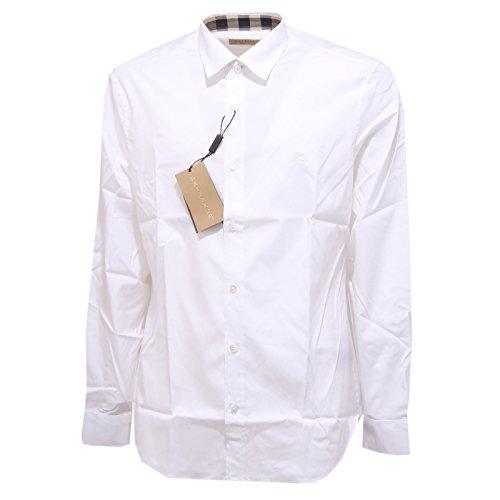 Burberry camicia manica lunga uomo cambridge bianco 39911591 tg. xl