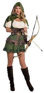 amscan Disfraz de Robin con Capucha para Mujer, Multicolor, Small (844571)