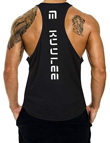 56ff6a763cfda KUULEE Hommes Musculation Débardeur Bodybuilding Stringer Gilet sans Manche  Maillot Training Tank Tops Sport T-