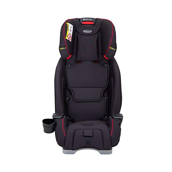 Graco SlimFit All-in-One Car Seat, Group 0+/1/2/3, Fiery Red Graco 3 in 1 car seat can be used from birth up to 36 kg (approximately 12 years). rearward facing for longer from birth to approx. 4 years (0-18kg) Easily converts to and from the three riding positions; rear-facing harnessed seat (0-18kg), to forward-facing harnessed seat (9-18kg) and to high back booster (15-36kg) True shield safety surround side impact protection for enhanced safety 5