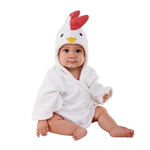Minuya Albornoces Bebe, Bata de Baño Bebe Forma Animal Linda/Albornoz Suave de Algodón/Albornoces con Capucha para Niñas y Niños 0-6 Años