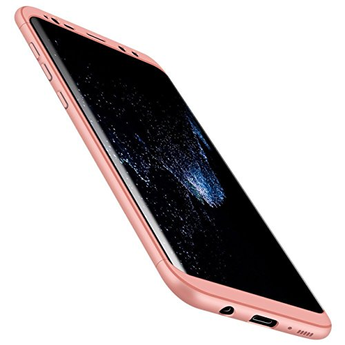 Qissy® Carcasa Samsung Galaxy S8 Plus ,3 in 1 Todo incluido Anti-Scratch Ultra Slim Protective 360 PC Case Cover para Samsung Galaxy S8/S8 + (Samsung Galaxy S8 Plus, Rosa or)