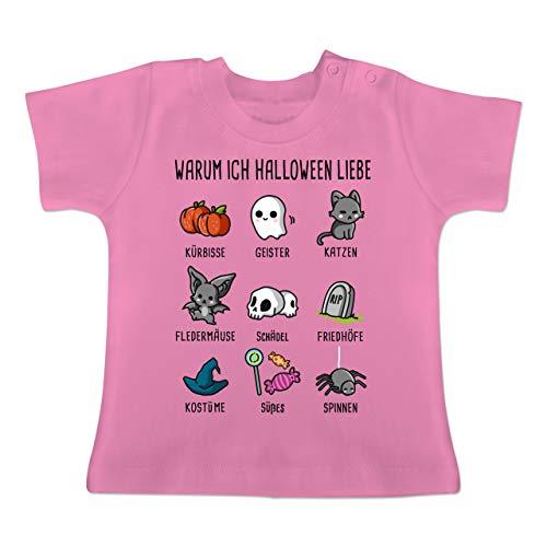 Kostüm Gummibärchen Baby - Halloween Baby - Warum ich Halloween Liebe - 3-6 Monate - Pink - BZ02 - Baby T-Shirt Kurzarm