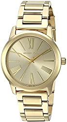 Michael Kors Analog Gold Dial Womens Watch-MK3490