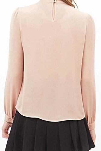 Damen T Shirt Damen Elegant Langarm Locker Basic Sommer Bolero Langarmshirt Oberteil Pink