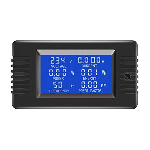 Schwarz Ac Digital Display Power Monitor Meter 5A Voltmeter Frequenzmesser Digital Panel Current Meter Power Factor Meter-Prüfvorrichtung-Werkzeug