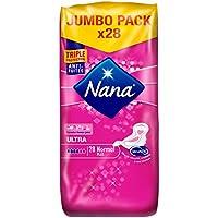 Nana Ultra Normal Plus - Serviette hygiénique avec ailettes - lot de 4 paquets de 28 serviettes