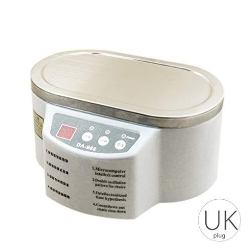 600ml Mini Schmuck Uhrschalen Zahnbürste Sonic Reiniger Waschmaschine Dual Power Timer Waschmaschine (Zahnbürste Sonic Dual)