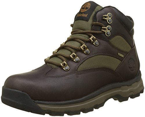 Timberland Herren Chocorua Trail Goretex Waterproof Chukka Boots, Braun (Dark Brown/Green A66), 43 EU