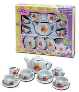 new-13pc-bear-china-tea-party-set-childrens-playset-mini-picnic-baby-toys-sets