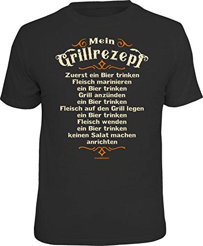 RAHMENLOS Design - T-Shirt für Den BBQ Grill-Fan: Mein Grillrezept XXL, Nr.6918