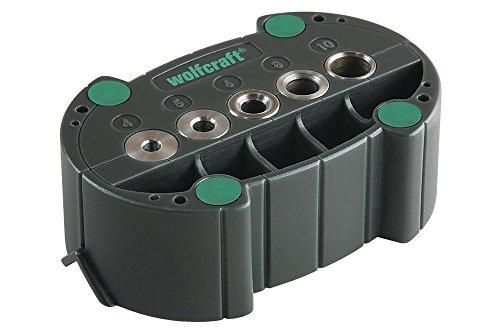 wolfcraft accumobil Mobile Bohrhilfe 4685000 | Handliches Bohrzubehör für rechtwinkliges und präzises Bohren mit praktischen Bohrbuchsen und Positionierungslinien (Mobile-hilfe)