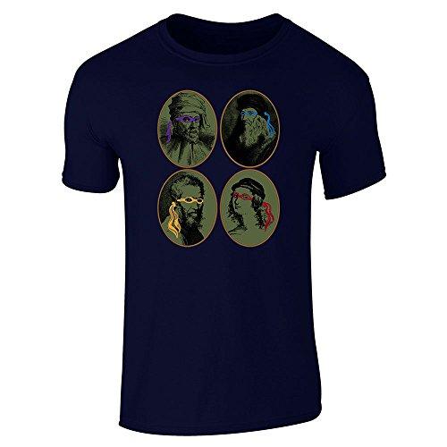 Pop Threads Herren T-Shirt Gr. M, marineblau